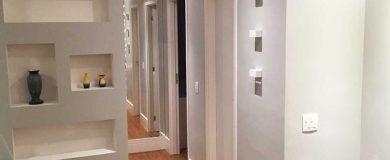 Instalação Painel de gesso e iluminação