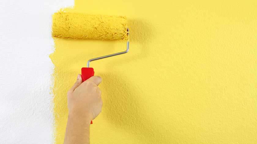 A pintura depende das condições do tempo, assim como a aplicação de massa corrida, textura ou grafiato